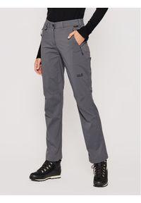 Szare spodnie sportowe Jack Wolfskin outdoorowe #5