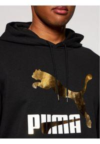 Puma Bluza Classics Logo 530085 Czarny Regular Fit. Kolor: czarny