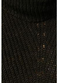 Czarny sweter Jacqueline de Yong długi, casualowy