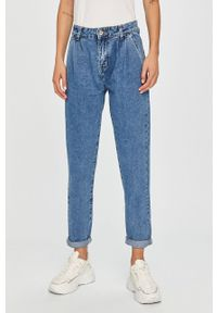 Niebieskie jeansy loose fit Answear Lab wakacyjne, z podwyższonym stanem