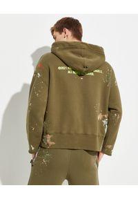PALM ANGELS - Luźna bluza khaki. Kolor: zielony. Materiał: bawełna. Długość rękawa: długi rękaw. Długość: długie. Wzór: aplikacja