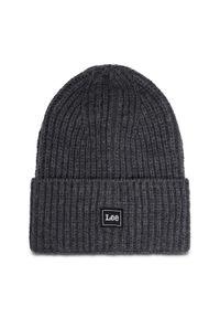 Szara czapka zimowa Lee