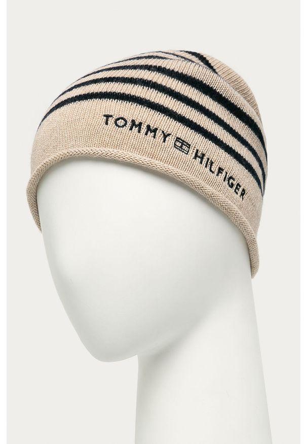 Beżowa czapka TOMMY HILFIGER