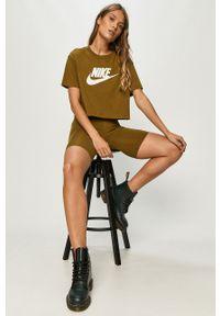 Nike Sportswear - Szorty. Stan: podwyższony. Kolor: zielony. Materiał: dzianina