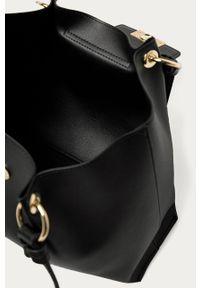 Czarna shopperka Trussardi Jeans na ramię