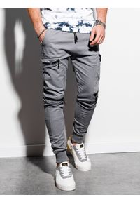 Szare spodnie Ombre Clothing