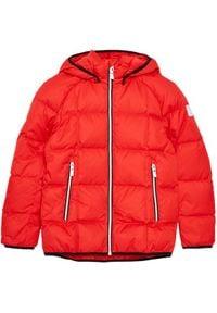 Reima Kurtka puchowa Jord 531359 Czerwony Regular Fit. Kolor: czerwony. Materiał: puch
