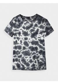 Czarny t-shirt 4f z nadrukiem