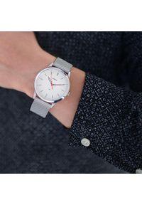 Srebrny zegarek Fossil biznesowy