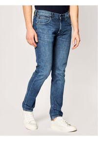 Lee Jeansy Slim Fit Luke L719FCJQ Granatowy Slim Tapered Fit. Kolor: niebieski. Materiał: jeans
