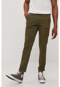 Oliwkowe spodnie PRODUKT by Jack & Jones gładkie
