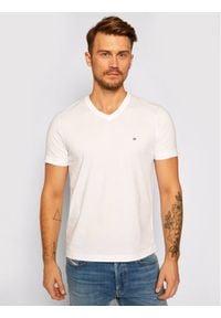 Calvin Klein T-Shirt Logo Embroidery K10K103672 Biały Regular Fit. Kolor: biały