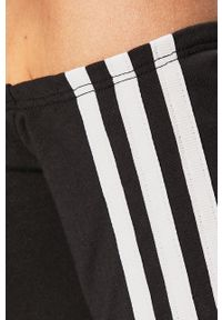 Czarna sukienka adidas Originals dopasowana, z dekoltem typu hiszpanka