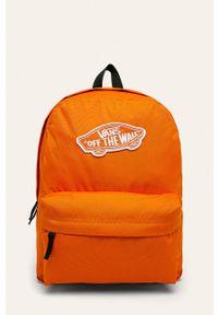 Pomarańczowy plecak Vans z aplikacjami