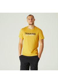 NYAMBA - Koszulka krótki rękaw fitness. Kolor: pomarańczowy. Materiał: poliester, elastan, bawełna, materiał. Długość rękawa: krótki rękaw. Długość: krótkie. Sport: fitness
