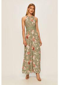 Zielona sukienka Vila na ramiączkach, maxi