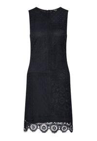 Czarna sukienka koktajlowa Desigual wizytowa