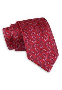 Niebieski krawat Angelo di Monti paisley, klasyczny
