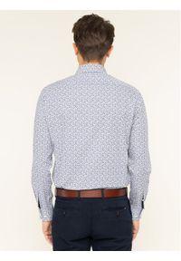 TOMMY HILFIGER - Tommy Hilfiger Tailored Koszula Floral Print Classic TT0TT06464 Granatowy Regular Fit. Kolor: niebieski. Wzór: nadruk