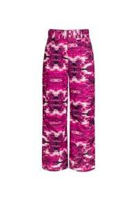 Descente - Spodnie DESCENTE SELENE JR. Kolor: różowy. Materiał: jeans. Wzór: aplikacja, nadruk. Sport: narciarstwo