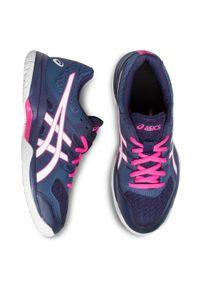 Niebieskie buty do fitnessu Asics z cholewką