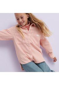 Reserved - Koszula z aplikacją - Różowy. Kolor: różowy. Wzór: aplikacja