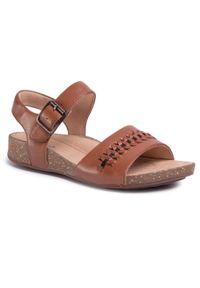 Brązowe sandały Clarks casualowe, na co dzień