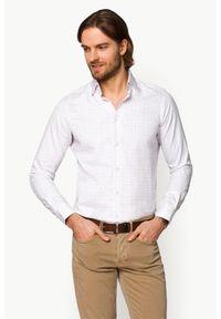 Lancerto - Koszula Mixkolor w Kratę Dallas. Materiał: tkanina, bawełna, jeans. Wzór: kolorowy, ze splotem
