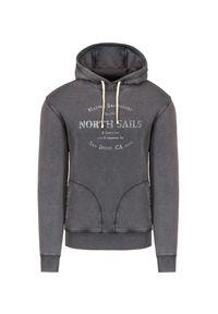 North Sails - Bluza NORTH SAILS HOODED SWEATER W/GRAPHIC. Materiał: materiał, bawełna. Wzór: nadruk