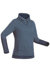 quechua - Bluza turystyczna - NH500 - damska. Materiał: bawełna, materiał, poliester. Długość: długie