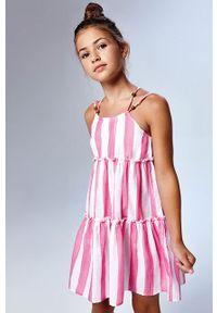 Sukienka Mayoral rozkloszowana, mini, na ramiączkach