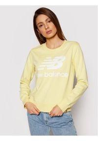 New Balance Bluza Essentials Crew WT03551 Żółty Relaxed Fit. Kolor: żółty