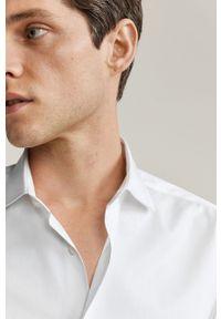 Biała koszula Mango Man elegancka, długa, z włoskim kołnierzykiem