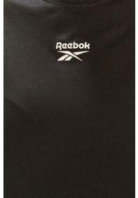 Czarna sukienka Reebok Classic z krótkim rękawem, prosta, na co dzień, casualowa