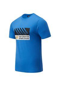 Koszulka sportowa New Balance z klasycznym kołnierzykiem, z nadrukiem