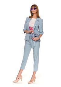 Niebieskie spodnie TOP SECRET eleganckie, na lato