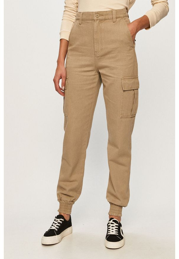Spodnie materiałowe Dr. Denim na co dzień, casualowe