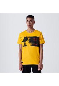 Cropp - Koszulka z nadrukiem Mortal Kombat - Żółty. Kolor: żółty. Wzór: nadruk