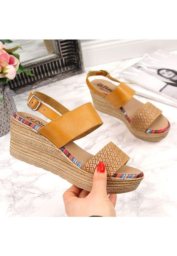 Żółte sandały El Pimpi eleganckie