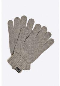 Szare rękawiczki Jack Wolfskin