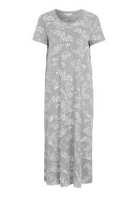 Cellbes Koszula nocna z krótkim rękawem szary melanż we wzory female szary/ze wzorem 46/48. Kolor: szary. Materiał: jersey. Długość: krótkie. Wzór: melanż