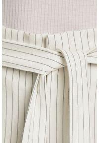 Kremowe spodnie materiałowe only z podwyższonym stanem