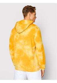 Champion Bluza Tie Dye 216160 Żółty Comfort Fit. Kolor: żółty
