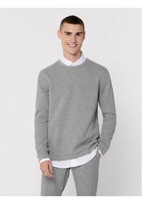 Szary sweter klasyczny Only & Sons z motywem zwierzęcym