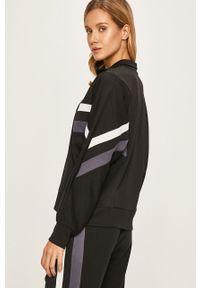 Czarna bluza rozpinana DKNY z aplikacjami, bez kaptura