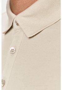 Szara koszulka polo Trussardi Jeans polo, krótka, na co dzień