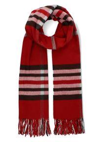 Czerwony szalik Lancerto casualowy, na co dzień
