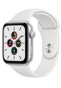 APPLE - Apple Watch SE , 44mm Silver Aluminium Case with White Sport Band (MYDQ2HC/A). Rodzaj zegarka: smartwatch. Kolor: srebrny. Styl: sportowy