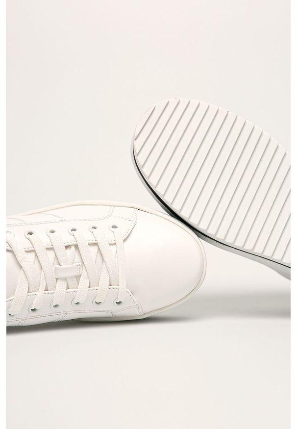 Białe buty sportowe Call It Spring z cholewką, z okrągłym noskiem, na sznurówki