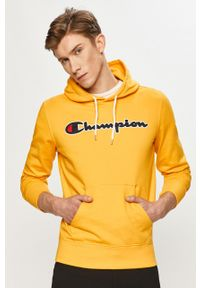Żółta bluza nierozpinana Champion z kapturem, na co dzień